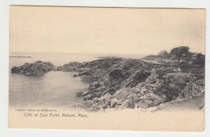 P2161 old postcard cliffs at east point nahant mass, houses &  waterview unused