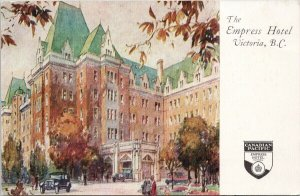 The Empress Hotel Victoria BC Canadian Pacific Hotels Advertising Postcard C3