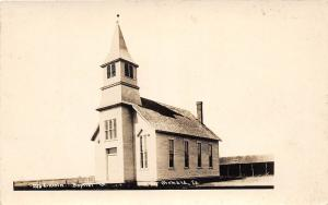 D95/ Orchard Iowa Ia Real Photo RPPC Postcard c1910 Baptist Church Building