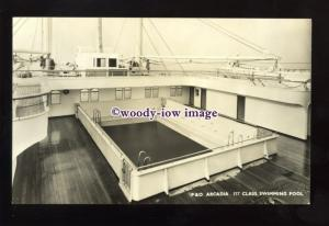 LS1349 - P&O Liner - Arcadia - 1st Class Swimming Pool - postcard