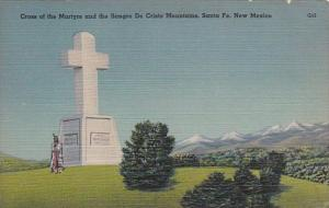 New Mexico Santa Fe Cross Of The Martyrs and The Sangre Cristo Mountains