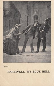 Farewell, My Blue Bell, Policeman taking drunk while holding hand of lady