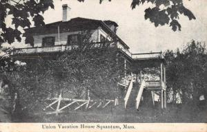 Squantum Massachusetts Union Vacation House Vintage Postcard JA454802