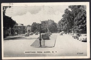 New York ALDEN Street View with 1940s cars - pm1946 - Printed Postcard