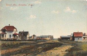 H57/ Hampden North Dakota Postcard c1912 Second Avenue Homes  131
