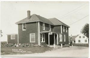 Pemaquid ME Mobil Gas Pump Store Front RPPC Real Photo Postcard