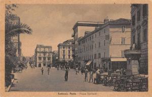 Nettunia Porto Rome Italy birds eye view Piazza Garibaldi antique pc Z46026