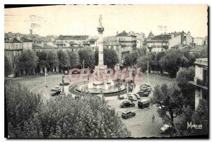 Postcard Old Marseille B of R Place Castellane and fountain Cantini