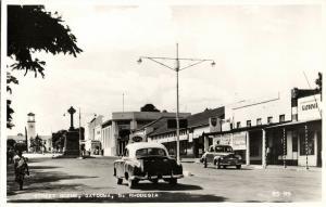 south rhodesia, GATOOMA, Street Scene, Cars (1940s) RPPC Postcard