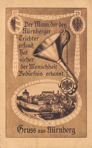 Gruss Aus Nuremberg DE Art Nouveau~Man Who Invented Funnel Pegged Humanity 1921