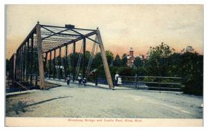 Early 1900s Broadway Bridge and Castle Rest, Niles, MI Postcard