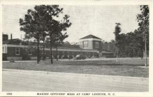 Camp Lejeune, N.C., Marine Officers' Mess (1940s) WWII Postcard No. 1902