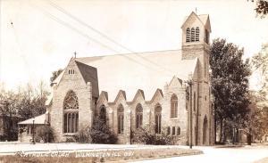 Illinois Il Real Photo RPPC Postcard 1944 WILMINGTON Catholic Chuch