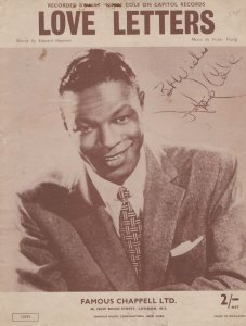 Love Letters Nat King Cole Sheet Music