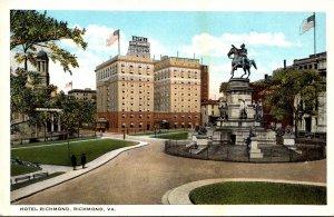 Virginia Richmond Hotel Richmond Curteich