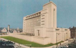Technical College Nottingham 1960s Postcard