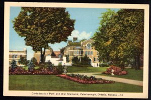 Ontario PETERBOROUGH Confederation Park and War Memorial - WB - PECO