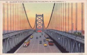 New Jersey Camden Delaware River Bridge Connecting Philadelophia Pennsylvania...