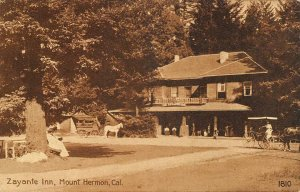 ZAYANTE INN Mount Hermon, CA Santa Cruz County ca 1910s Vintage Postcard