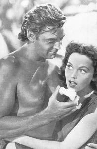 Johnny Weissmuller and Maureen O'Sullivan 1947 Nostalgia Reprint