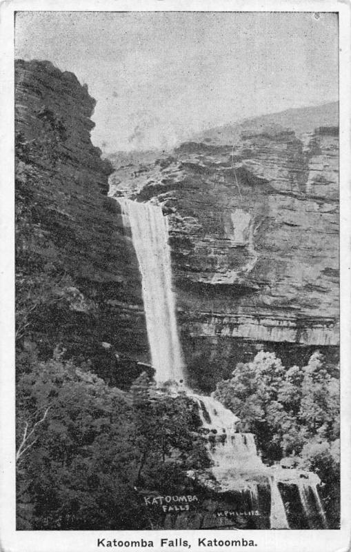 Katoomba Australia Katoomba Falls Scenic View Antique Postcard J75794
