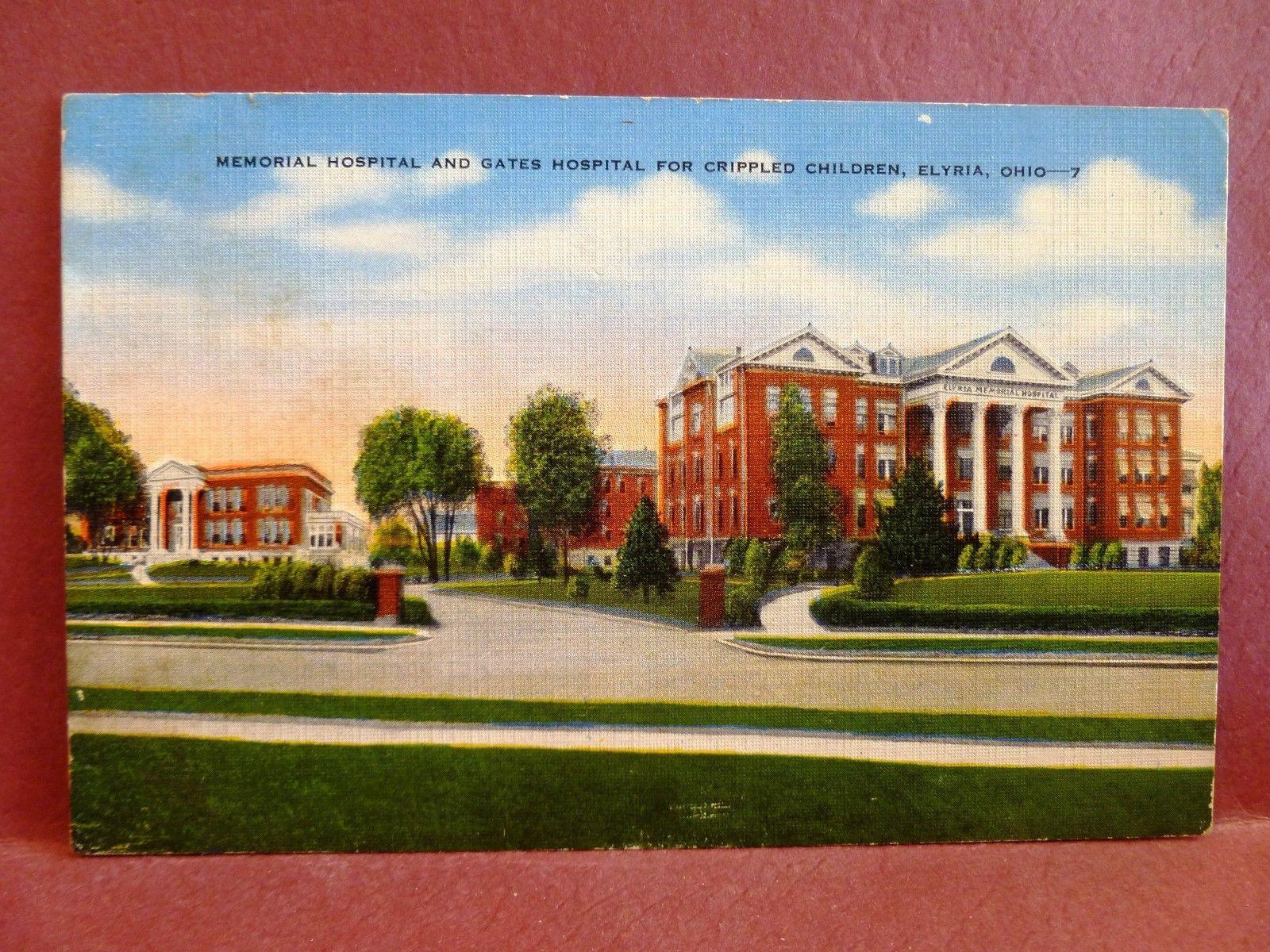 Postcard OH Elyria Memorial Hospital & Gates Hospital for