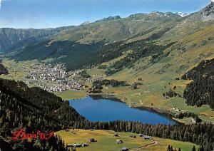 Switzerland Davos mit See und Alp Drusatscha Lake General view