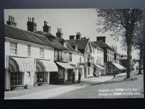 Kent TENDERDEN High Street c1950's RP Postcard ILFORD LTD PHOTO FILM ADVERT