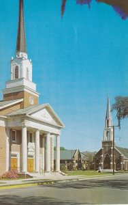 WALTERBORO , South Carolina, 1950-60s ; 1st Baptist & 1st Methodist Churches