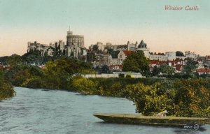 BERKSHIRE, England, 1900-1910's; Windsor Castle From The River