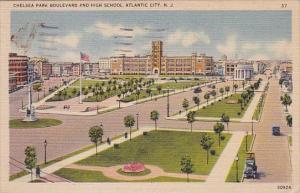 New Jersey Atlantic City Chelsea Park Boulevard And High School 1944