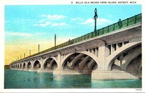 Michigan Detroit Belle Isle Bridge From Island Curteich