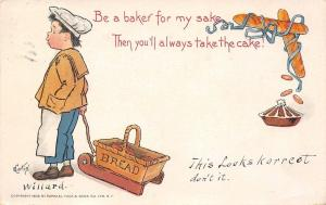 E Curtis~Valentine~Little Boy Baker Takes the Cake!~Bread Sled~Love's Labor~TUCK
