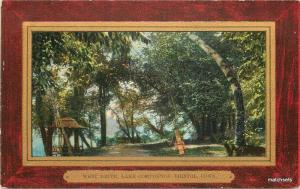 Bristol Connecticut West Drive Lake Compounce 7106 Frame Like postcard C-1910