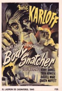 Invasion Of The Body Snatchers Boris Karloff Film Poster Postcard