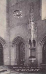 Pennsylvania Philadelphia Credence Table and Doorways In St Andrews Collegiat...