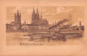 Koln Germany Am Rhein Den Koln Am Rhein Den