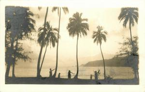 Jan 18 1938 Pago Pago, Samoa Postmark Tied Hawaii Stamp Real Photo Postcard