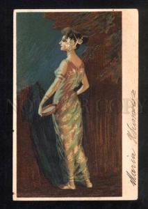 034721 BELLY DANCER Harem w/ TAMBOURINE Vintage color PC