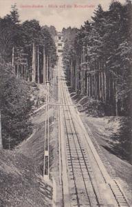 Germany Baden-Baden Blick aud die Merkuebahn