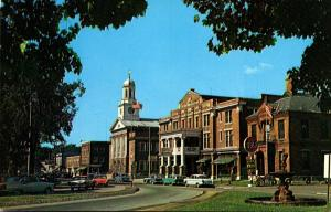 New Hampshire Lebanon Shopping District Street Scene
