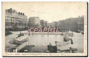 Old Postcard Dijon Square Darcy Walk