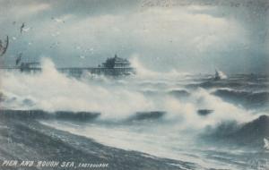 EASTBOURNE, England, United Kingdom; Pier and Rough Sea, 1907, TUCK # 6323