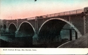 Iowa Des Moines Sixth Avenue Bridge 1912