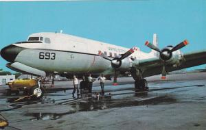 Douglas C-118 Liftmaster airplane wash day,Naval Air Station, Glenview , Il...