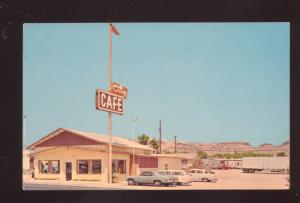 KINGMAN ARIZONA ROUTE 66 CITY CAFÉ 1960's CARS VINTAGE ADVERTISING POSTCARD