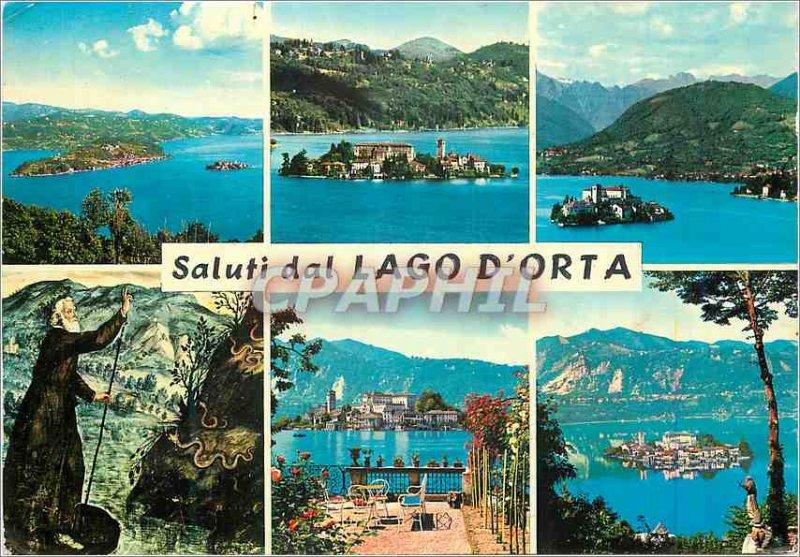 Postcard Modern Saluti dal Lago d'Orta