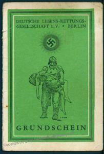 3rd Reich Germany 1938 DLRG Membership Booklet Life Saving Group With Phot 76398