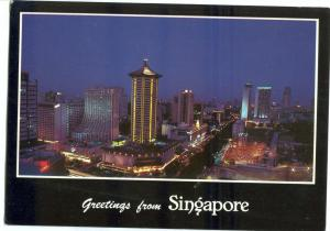 Greetings from Singapore, 1986 used Postcard