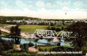 Maine Farmington View From Powder House Hill 1911